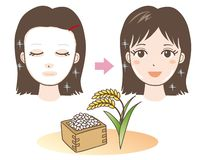 Face Pack - Rice - Japan Type vector illustration