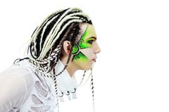Face paint stock images