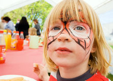 Face paint child birthday party Royalty Free Stock Photos