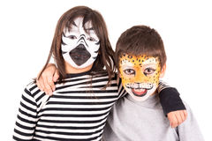 Face-paint Stock Photography