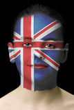 Face paint - United Kingdom. Girl with face paint, united kingdom flag Royalty Free Stock Photography