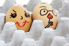 Face Painted Eggs Stock Photos