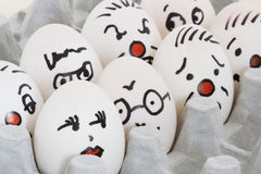 Face Painted Eggs Royalty Free Stock Image