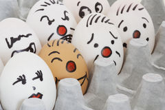 Face Painted Eggs Royalty Free Stock Images