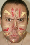 Face painted Stock Photography