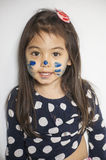 Face painted by mommy Royalty Free Stock Photo