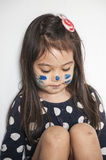 Face painted by mommy Royalty Free Stock Photography