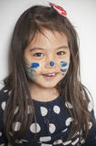 Face painted by mommy Royalty Free Stock Photos