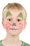 Face Painted Rabbit Stock Photography