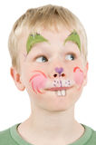 Face Painted Rabbit Royalty Free Stock Photo