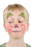 Face Painted Rabbit Royalty Free Stock Image