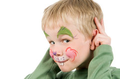 Face Painted Rabbit Stock Images