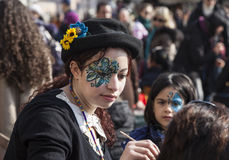 Face Painter Stock Images