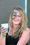 Face painter artist. Stock Image