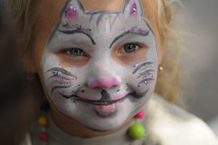 Face painting Royalty Free Stock Images