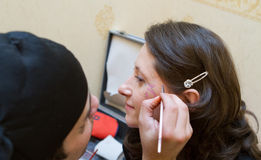 Face painting artist Stock Photos