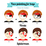 Face painting boys 2 Stock Photos
