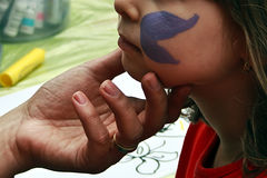 Face painting 1 Royalty Free Stock Photo