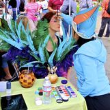 Face Painting by Cirque du Soleil stock images