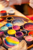 Face painting colors Stock Photos