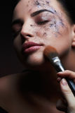 Face painting, cosmetics, beauty and makeup Royalty Free Stock Photo
