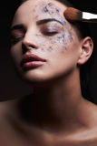 Face painting, cosmetics, beauty and makeup Stock Image