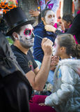 Face Painting, Day of the Dead Stock Photos