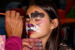 Face painting dog Stock Photos