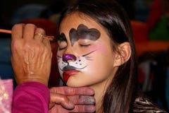 Face painting dog Stock Photos