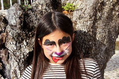 Face painting dog Stock Photo