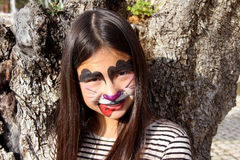 Face painting dog Royalty Free Stock Image