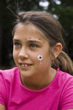 Face Painting, Flower Detail royalty free stock photography