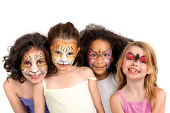 Face painting group Royalty Free Stock Photo