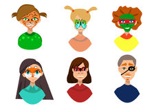 Face painting icons. Stock Photography