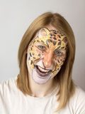 Face painting Jaguar Stock Photo