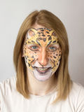 Face painting Jaguar Stock Photo
