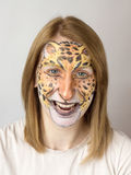 Face painting Jaguar Royalty Free Stock Images