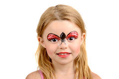 Face painting, ladybug Stock Photos