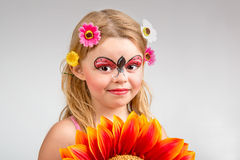 Face painting, ladybug Royalty Free Stock Photography