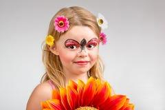 Face painting, ladybug Royalty Free Stock Photography