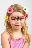 Face painting, ladybug Royalty Free Stock Photo