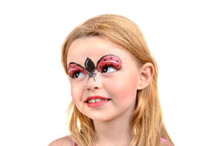 Face painting, ladybug Royalty Free Stock Photos