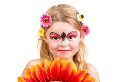 Face painting, ladybug Stock Images