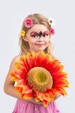 Face painting, ladybug stock photo