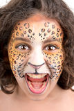 Face painting, leopard Royalty Free Stock Photos