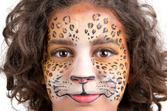 Face painting, leopard Stock Photography