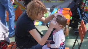 Face painting stock video footage