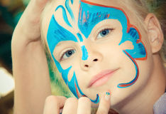 Face Painting and Make up. Royalty Free Stock Images