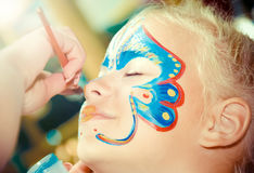 Face Painting and Make up. Stock Photos