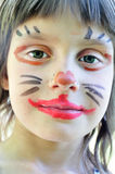 Face painting mask child Royalty Free Stock Photos